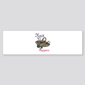 Knitting Yarn Bumper Sticker