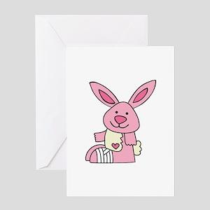Injured Rabbit Greeting Cards