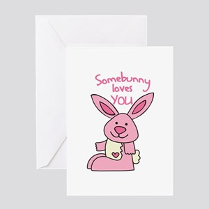 Valentine Bunny Greeting Cards