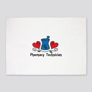 Pharmacy Technician 5'x7'Area Rug