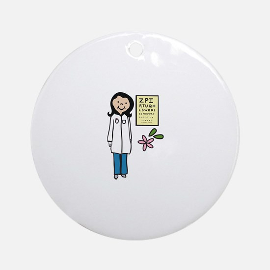 Female Doctor Round Ornament