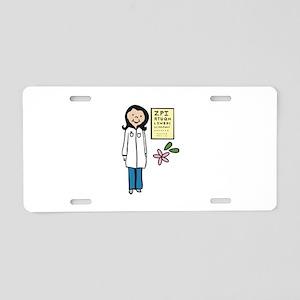 Female Doctor Aluminum License Plate
