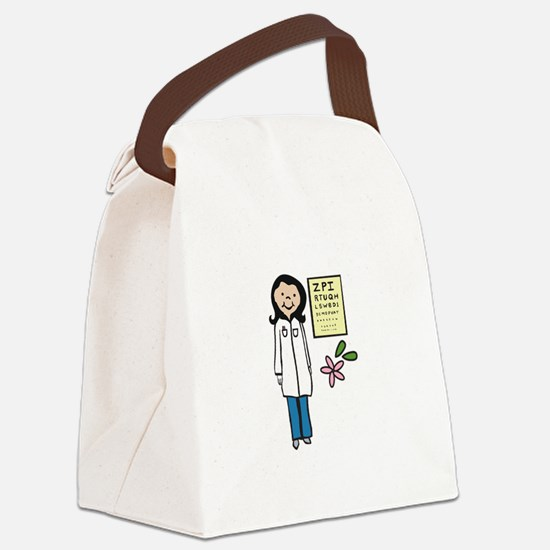 Female Doctor Canvas Lunch Bag