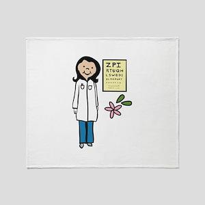 Female Doctor Throw Blanket
