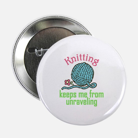 """Knitting Therapy 2.25"""" Button (10 pack)"""