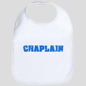 Chaplain Blue Bold Design Baby Bib