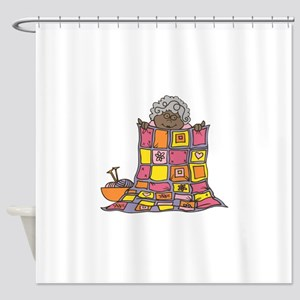 Quilting Grandmother Shower Curtain