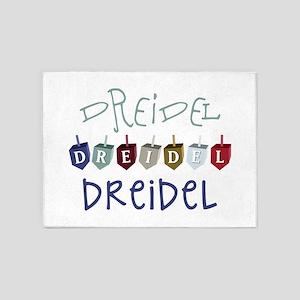 Dreidel Toy 5'x7'Area Rug