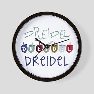 Dreidel Toy Wall Clock
