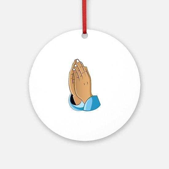 Praying Hands Round Ornament