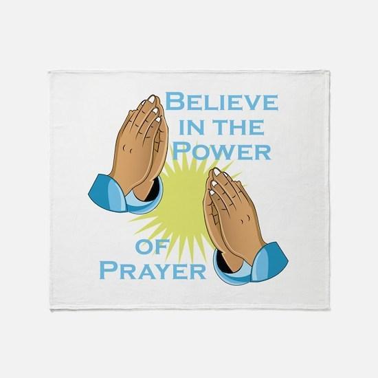 Power Of Prayer Throw Blanket