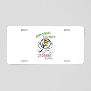 Cross Stitcher Aluminum License Plate
