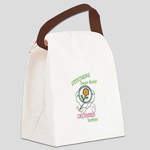 Cross Stitcher Canvas Lunch Bag