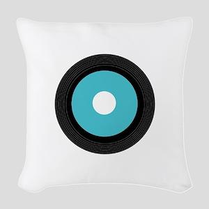 Record Woven Throw Pillow