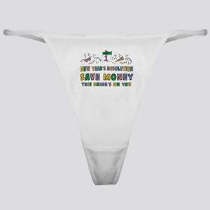 Funny New Year's Resolution Classic Thong