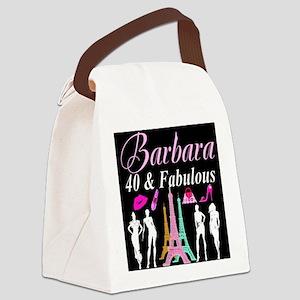 40TH PARIS GIRL Canvas Lunch Bag