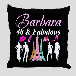 40TH PARIS GIRL Throw Pillow