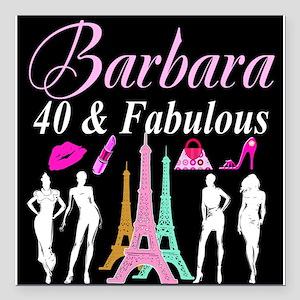 "40TH PARIS GIRL Square Car Magnet 3"" x 3"""
