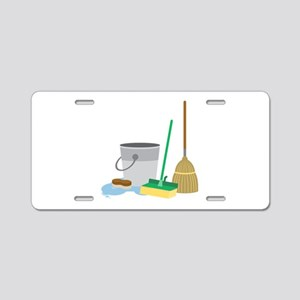 Cleaning Supplies Aluminum License Plate