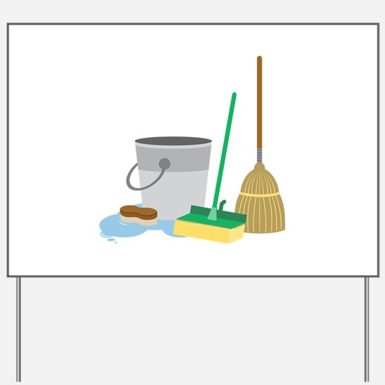 Cleaning Supplies Yard Sign