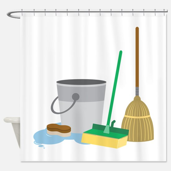 Cleaning Supplies Shower Curtain