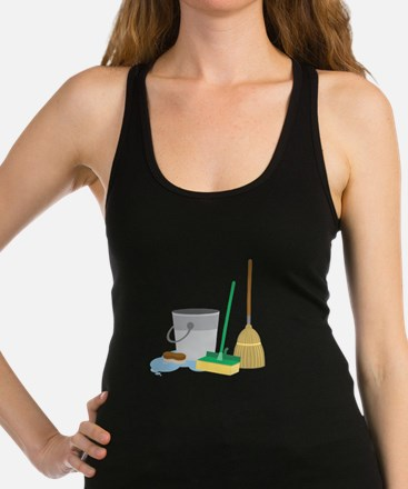 Cleaning Supplies Racerback Tank Top