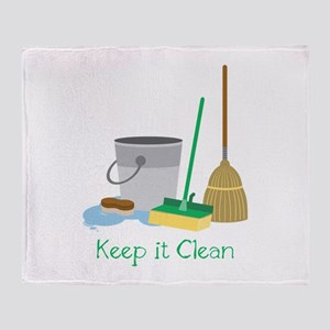 Keep it Clean Throw Blanket