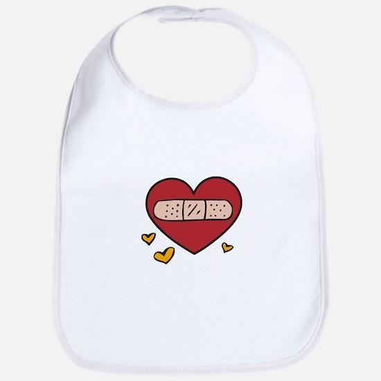 Valentine Band Aid Bib
