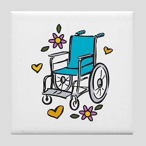 Floral Wheelchair Tile Coaster
