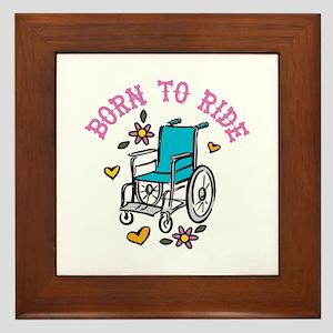 Born To Ride Framed Tile