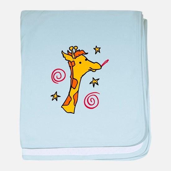 Giraffe Head baby blanket