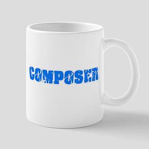 Composer Blue Bold Design Mugs