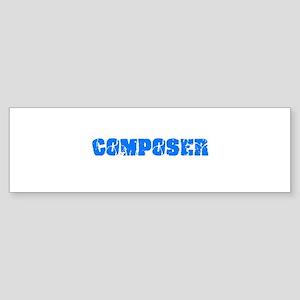 Composer Blue Bold Design Bumper Sticker