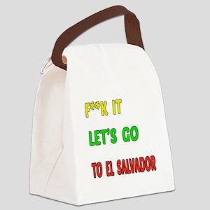 Let's go to El Salvador Canvas Lunch Bag