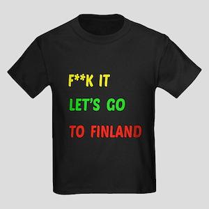 Let's go to Finland Kids Dark T-Shirt