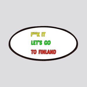 Let's go to Finland Patch