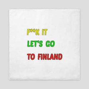 Let's go to Finland Queen Duvet