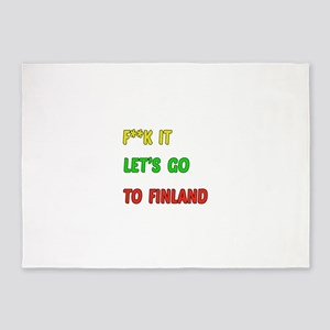 Let's go to Finland 5'x7'Area Rug