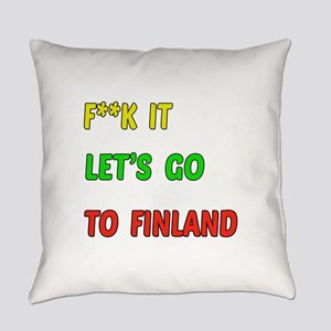 Let's go to Finland Everyday Pillow