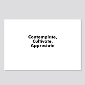 Contemplate, Cultivate, Appre Postcards (Package o
