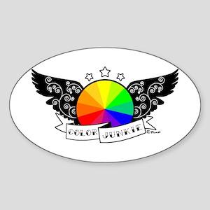 Color Junkie Oval Sticker