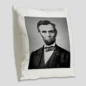 Abraham Lincoln Burlap Throw Pillow