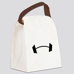 Barbell Weight Canvas Lunch Bag