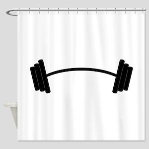 Barbell Weight Shower Curtain