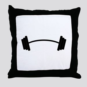 Barbell Weight Throw Pillow