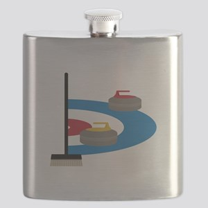 Curling Sport Flask