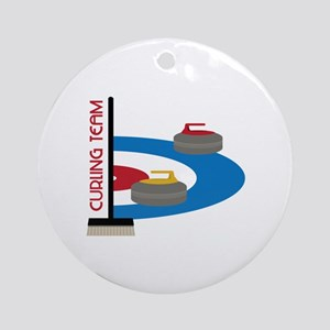 Curling Team Round Ornament