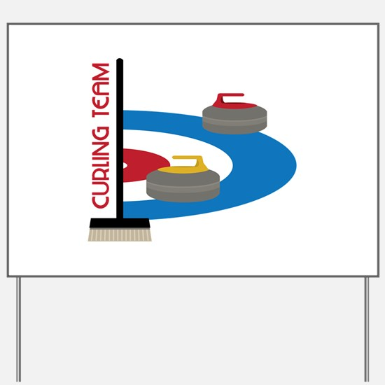 Curling Team Yard Sign