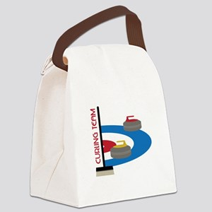 Curling Team Canvas Lunch Bag