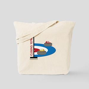 Curling Team Tote Bag